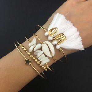 Jewelry - 🍒 B1 NEW! Handmade Vintage Boho Shell Bracelets